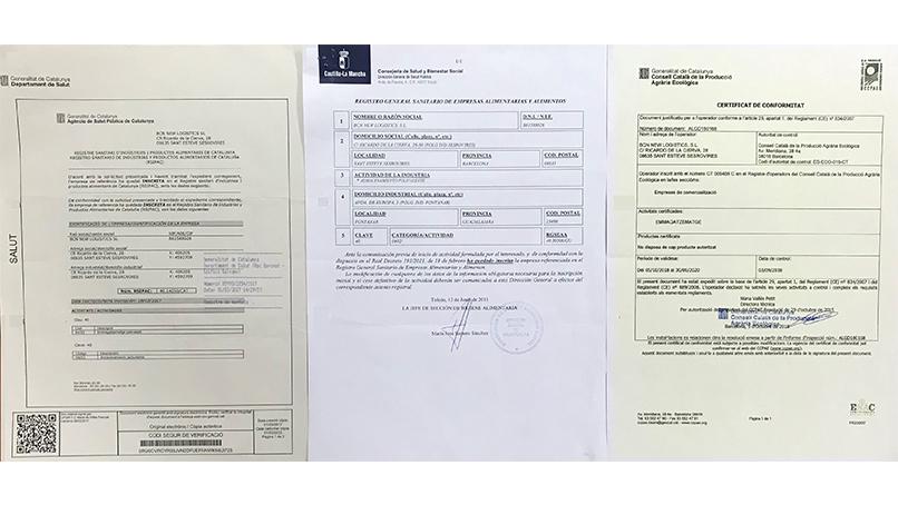 MAGATZEMS AMB AUTORITZACIÓ PER A PRODUCTES ALIMENTARIS I ECOLÒGICS